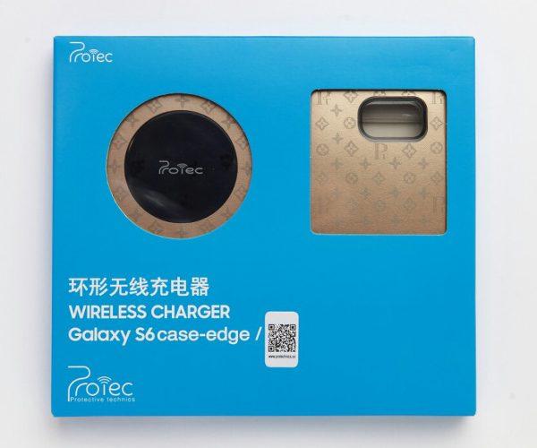 Bộ đế sạc không dây kèm ốp lưng Galaxy S6 Edge hiệu Protechnics