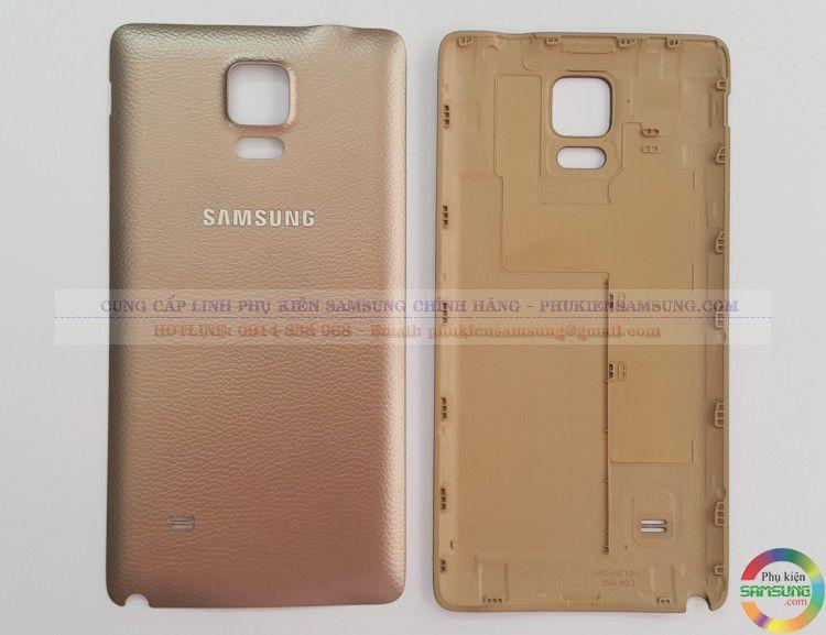 Nắp lưng Samsung Note 4 Vàng Champage