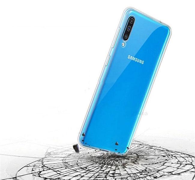 Ốp lưng silicon trong suốt Galaxy A50 hiệu Aolibao